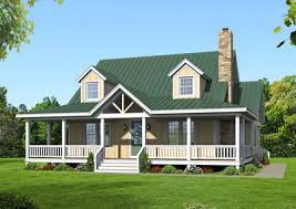 country living with wraparound porch 68432vr architectural