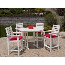 Patio High Top Table Polywood Captain Hi Top Patio Set Furniture For Patio