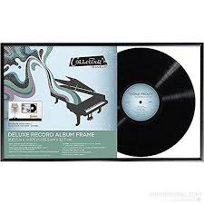 personalized record album deluxe record album frame shows back open and front glass by