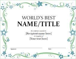 world best award certificate template finding proper gift