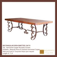 dining tables wax for copper table copper top tables for sale