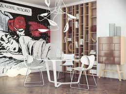 interior fabulous black white red pop art comic wall mural ideas full image for fabulous black white red pop art comic wall mural ideas next to wooden