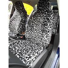 siege citroen c2 citroen c2 housse de siège fausse fourrure leopard blanc 2