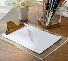 Acrylic Desk Accessories Stella Acrylic Brass Desk Accessories Pottery Barn
