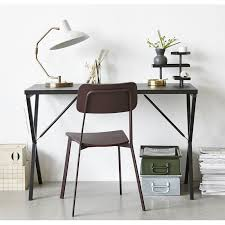 bureau design noir house desk table de bureau design epure metal noir pj0300