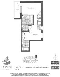 la vita mid rise m d 5 unit 701 706 view floor plan la vita tower a 6
