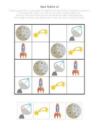 space sudoku puzzles free printables gift of curiosity