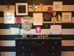 Pink Gold And White Bedroom Black White Gold Pink Nursery Had So Much Fun Doing This