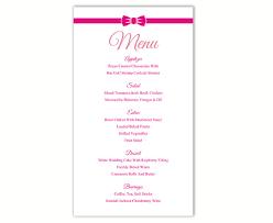 free printable menu templates and more i u0027m getting married