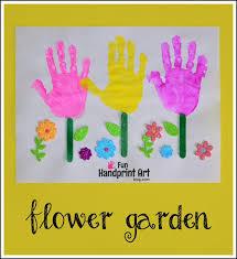 Gardening Craft Ideas Handprint Flower Garden Craft For Friendship Popsicle