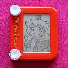 princess peach etch a sketch by pikajane on deviantart
