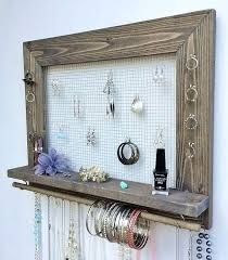earring holder for studs jewelry holder free shipping wall hanging jewelry organizer burlap