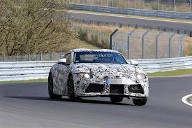 toyota supra 2018 toyota supra spied on the nurburgring comes with bmw
