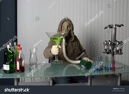 martini giant bartender gas mask name your poison stock photo 2786420 shutterstock