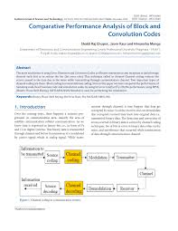 comparative performance analysis of block and convolution codes