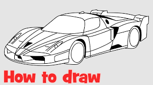 ferrari sketch how to draw a car ferrari fxx step by step youtube
