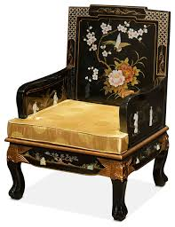 chinese imperial style sofa chair with hand painted art asian