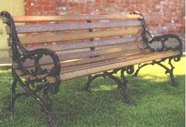 commercial grade wooden park benches