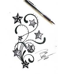 tribal tattoo designs stars and tribal by bixotattoo on