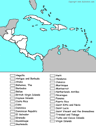 Blank Caribbean Map by Central America Map Countries Roundtripticket Me