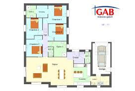 plan maison plain pied en l 4 chambres afficher l image d origine дом plans maison plans