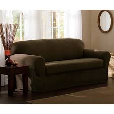 Average Loveseat Size Mainstays Faux Suede Loveseat Slipcover Walmart Com