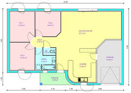 plan maison 2 chambres plain pied élégant plan maison 2 chambres plain pied gratuit idées de décoration