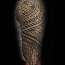collection of 25 black ink polynesian maori on chest and
