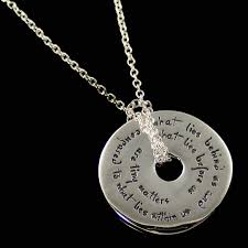 inspirational necklaces what lies us and what lies before us necklace emerson dvb