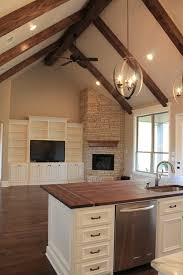 Decorating Rooms With Cathedral Ceilings Love The Openess Between The Two Areas The Entertainment Center