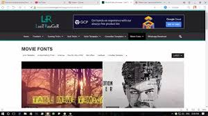 where can i download the latest tamil movie fonts quora