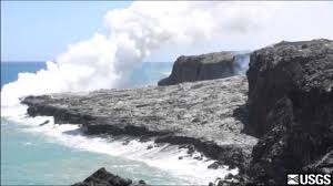 Entry7 by Time Lapse Sequence Of Lava Delta Subsidence At Ocean Entry 7 6