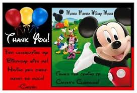 mickey mouse thank you cards mickey mouse clubhouse birthday thank you cards balloon design