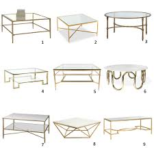 gold glass coffee table am dolce vita a roundup of brass and glass coffee tables