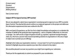 rfp cover letter sle cover letter for rfp response response letter response to