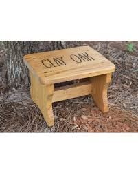 fall into savings on personalized kids stepping stool rustic decor