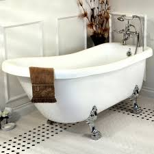 bathroom clawfoot tub with basket wive tile also wainscoting plus