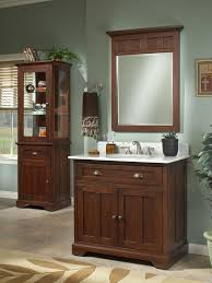 Bathroom Vanities With Matching Linen Cabinets Bathroom Decorating Using Light Green Bathroom Wall Paint