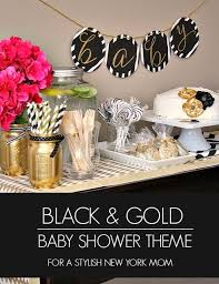 Baby Shower Tips For New Moms by Sophisticated Black And Gold Baby Shower Theme Perfect For