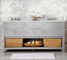 single sink console vanity marvelous classic double sink console gray pottery barn bathroom