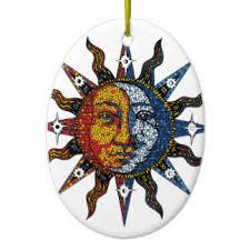 celestial sun and moon ornaments keepsake ornaments zazzle