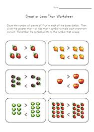 greater than less than worksheet for kindergarten greater than less than