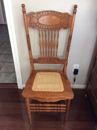 Vintage Furniture Stores Indianapolis Antique Oak Larkin 1 Pressed Back Chairs Circa 1900 Cane Seat