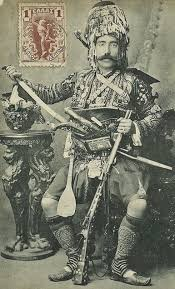 Ottoman Era Portrait Of A Armed Efe Or Zeybek From The Izmir
