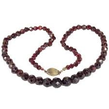 bead necklace clasp images Antique victorian faceted garnet bead necklace victoria sterling png