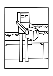 enderman minecraft coloring pages free printable minecraft