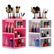 professional makeup stand rotating make up organizer cosmetic display brush lipstick storage