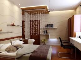 lovely small bedroom design with remakable white ceiling tile