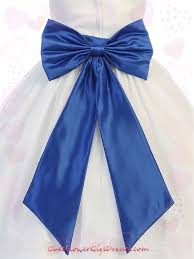 satin sash belt blue satin flower girl sash belt with bow
