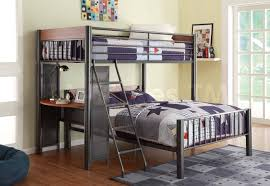 Bunk Beds With Built In Desk Furniture Green Loft Bed With Built In Desk Boys Room On